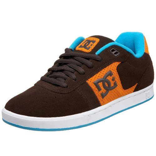DC Men's Match S Sneaker,D.Chocolate/Orange,5 M