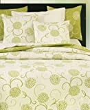 Luxury Single Bedspread Fennel Colour Braid Finish 180x260cm
