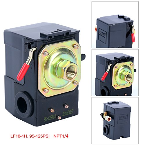 Lefoo Quality Air Compressor Pressure Switch Control Valve 95-125 PSI w/ Unloader LF10-1H-1-NPT1/4-95-125 (Air Switches compare prices)