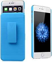 iXCC ® Ascend Series [Kickstand] Slim Hard PC Shell [Heavy Duty] Full Body Protection Slidable Cover Case [ Anti drop, Anti scratch, Anti slip, Anti shock ] with Kick-Stand Feature for Hands-Free Video Watching and Holster clip swivel for iPhone 6 Plus (5.5-inch) [Blue]
