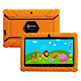 "Contixo Kids Safe 7"" Quad-Core Tablet 8GB, Bluetooth, Wi-Fi, Cameras, 20+ Free Games, HD Edition w/ Kids-Place Parental Control, Kid-Proof Case (Orange)"