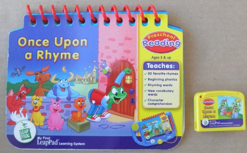 Leap Frog: Once Upon a Rhyme: Preschool Reading Educational Booklet and Cartridge for My First LeapPad Learning System - System NOT included