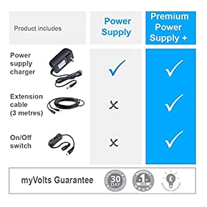 MyVolts 12V Power Supply Adaptor Compatible with Seagate SRD00F2 External Hard Drive - US Plug - Premium (Tamaño: Premium Plug +)