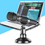 Neewer® Mini Studio Microphone with 3.5mm Stereo Plug and Desktop Stand for PC Computer or Laptop, Ideal for Whatsapp / QQ / MSN / SKYPE Internet Chat, Podcast, Singing, Recording or More