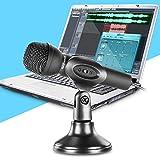 Neewer® ミニスタジオマクロフォーン 3.5mmステレオ端子とデスクトップスタンドに付き PCコンピューター ラップトップ、Whatsapp/ QQ/ MSN/ SKYPEインターネットチャット、ポッドキャスト、歌う、レコーディン...