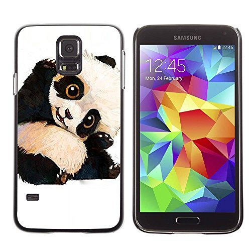 LASTONE PHONE CASE / Slim Protector Hard Shell Cover Case for Samsung Galaxy S5 SM-G900 / Panda Bear Kids Children'S (Panda Bear Phone Case compare prices)