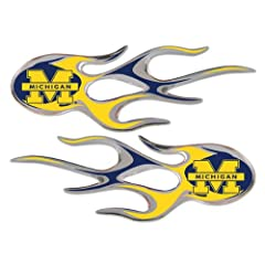 Michigan Wolverines Micro Flames Auto Decal 2 Pack for Car Truck Motorcycle Bike... by NCAA