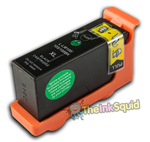 1 Lexmark L-100/L-108 XL Schwarz (passt auch für L105/LM105) kompatible Tintenpatrone für Lexmark Pinnacle PRO 901 Drucker von 'The Ink Squid' - 1 x L-100/L-108 XL Schwarz (19ml)
