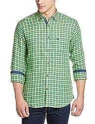 Park Avenue Men's Casual Shirt (8907117081958_PCSY00771-N5_46_Medium Green)