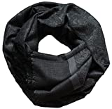 """Winter Best Seller"" Men Women Fashion Paisley Scarf Pashmina Silk Clothing Accessory, GRAY BLACK"