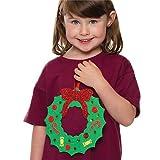 スポンジ 無地クリスマスリース(6枚入り)子どもたちの手作りに