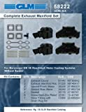 MERCRUISER COMPLETE EXHAUST MANIFOLD SET GM 4.3L V6 (CAST IRON)   GLM Part Number: 58222