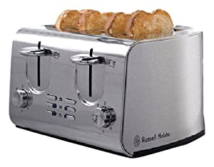 Russell Hobbs 13791 4-Slice Urban Compact Toaster in Brushed Satin