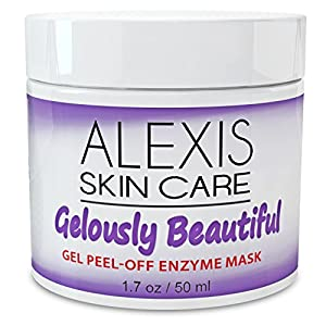 BEST Anti-Aging Peel-Off Facial Mask - Brighter Skin - Blackhead Remover - Powerful Enzymes Exfoliate Dead Skin Cells - Minimizes Pores - Deep Cleansing Gel - Face Peel for Acne and Scars - Men and Women