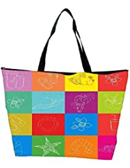 Snoogg Abstract Summer Background Waterproof Bag Made Of High Strength Nylon
