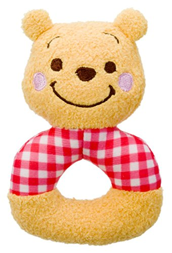 Japan-Disney-Official-Winnie-the-Pooh-Cute-Bear-Animal-Mascot-Ring-Rattle-Orange-and-Red-Color-Rock-Maracas-Musical-Educational-Squishy-Squeeze-Doll-for-Fun-Baby-Teether-Soft-Plush-Wonderful-Gift