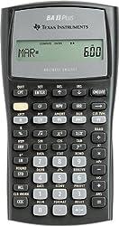 Texas Instruments BAIIPLUS - BAIIPlus Financial Calculator, 10-Digit LCD-TEXBAIIPLUS