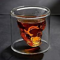 Hayabusa TM AutoM Fantastic Crystal Design Head Vodka Skull Face Bone Glass Bottle Decanter Empty Bar Line 75ML by haya