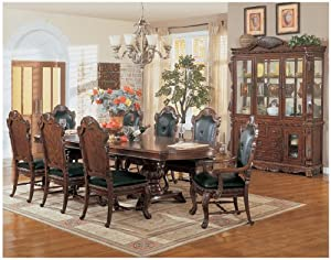 Dining Room Table Brussels Collection 8 Piece Set Hutch Buffet Ch