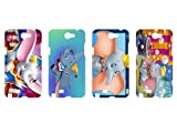 Wholesales 4pcs Dumbo Cartoon Fashion Hard back cover skin case for samsung galaxy note n7100-n7du4001