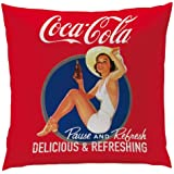 CTI 40170 Coussin 40 x 40 cm Coca Cola Pin Up
