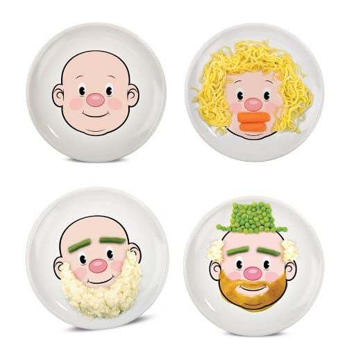 Amazon.com   Fred & Friends Mr Food Face Plate: Plates: Dinner Plates