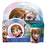 p:os 23873 Frühstücksset Disney Frozen, 3 Teilig Teller,...