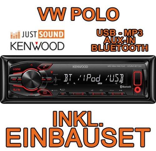 VW polo 6N 6N2 &kenwood kMM-bT34 autoradio cD/mP3/uSB encastré avec bluetooth
