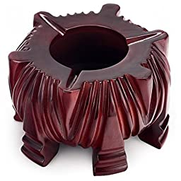 Teagas Rosewood Antique Cigarette Ashtray for Modern Decoration Indoor Outdoor
