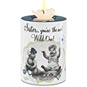Candidly Lol By Pavilion 4 Inch Tall Tea Light Candle Holder With Candle, Sister