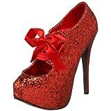 Bordello by Pleaser Women's Teeze 10 Glitter Platform Pump - Womens Shoes