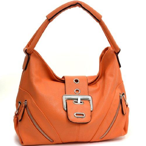 Dasein Classic Fashion Hobo with Zippered Pockets - Orange e4ff61889d470