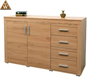 sideboard kommode malm kernbuche mdv hessen. Black Bedroom Furniture Sets. Home Design Ideas