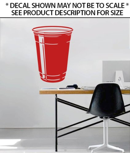 Red Solo Cup Wall Decor Sticker Vinyl Decal (Large)