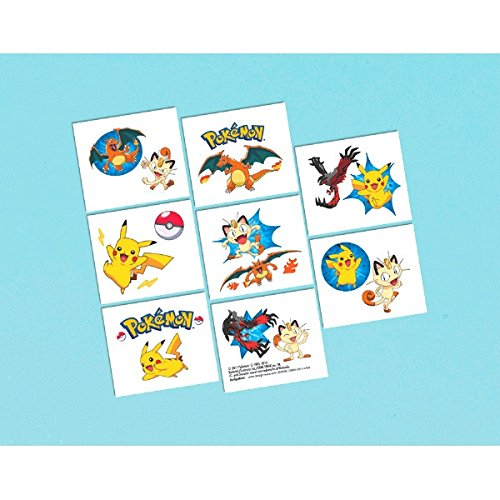 Pokemon Pikachu and Friends Party Favor Tattoos - 1
