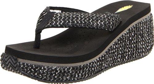 Volatile Women'S Tanorama Thong Sandal,Black,8 B Us front-823839