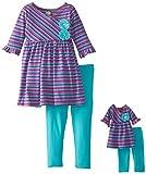 Dollie & Me Little Girls Stripe Tunic Legging Set