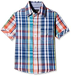 Nautica Kids Boys' Shirt (N274266Q405_Provincial_4 - 5 years)