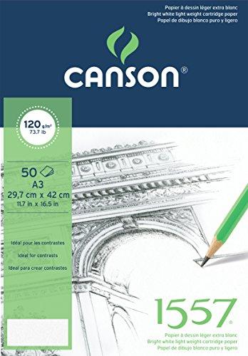 canson-bloc-50-feuilles-papier-a-dessin-120-g-grain-leger-a3-blanc-pur
