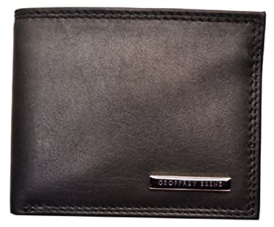 Geoffrey Beene Mens Hamilton Passcase Billfold Dark Brown Wallet (Brown)
