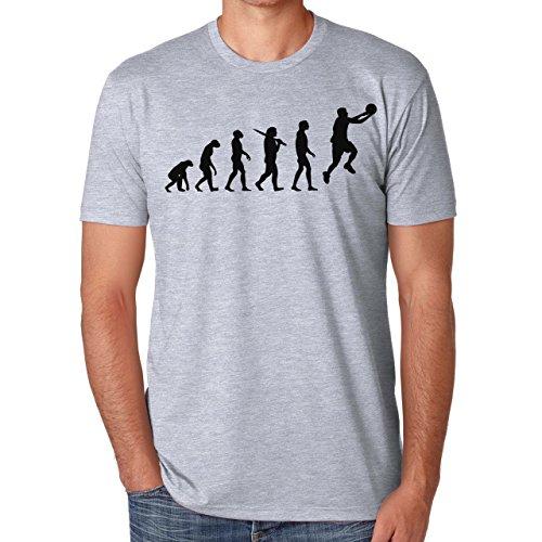 Evolution-Maglietta da basket, uomo grigio XL