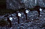 Set of 4 Solar Landscape Spot Lights - 3 LED