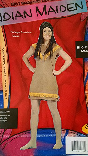 native american indian female adult costume size standard