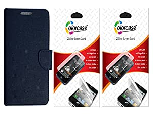 Colorcase Flip Cover Case for Lenovo A7000 with 2 Screenguards Combo Set