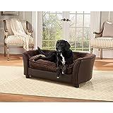 Enchanted Home Pet Panache Dog Bed, Brown, Medium (26 - 50 lbs.)