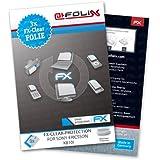 3 x atFoliX Sony-Ericsson K810i Schutzfolie Folie - FX-Clear kristallklar