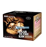 Sugar in the Raw / Raw Sugar Natural Cane Turbinado from Hawaii / Box of 500 packets