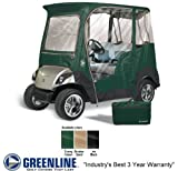 2 Person Custom Drivable Golf Cart Enclosure Cover for Yamaha Drive - Sand Color