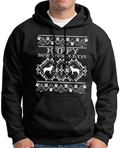 Bow Wow A Days Labrador Ugly Christmas Sweater Premium Hoodie Sweatshirt Medium Black