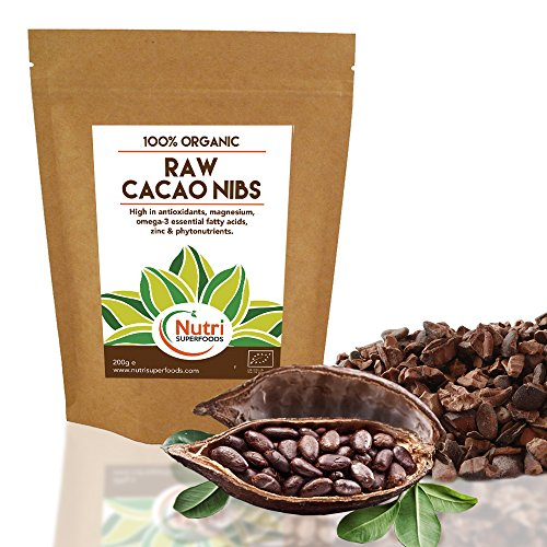 ROHE Organische Kakaospitzen | Vegane Schokolade Zutaten | Ungesüßtes Magnesium-reiches Superfood für Backen und Power Smoothies | 200 g
